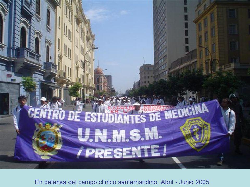 En defensa del campo clínico sanfernandino. Abril - Junio 2005