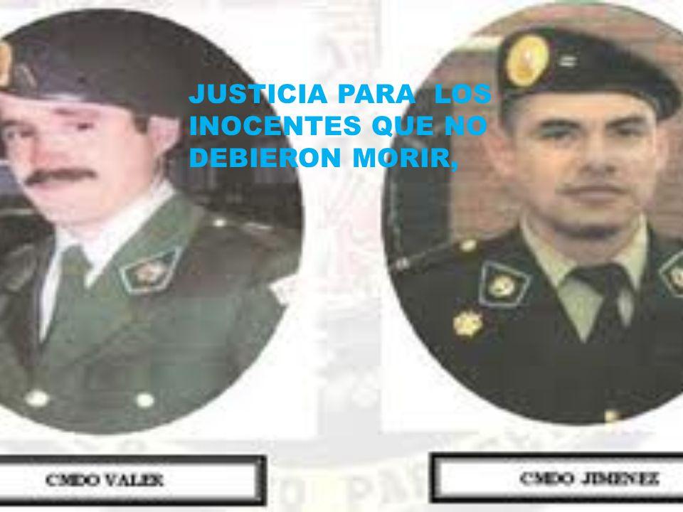 JUSTICIA PARA LOS INOCENTES QUE NO DEBIERON MORIR,