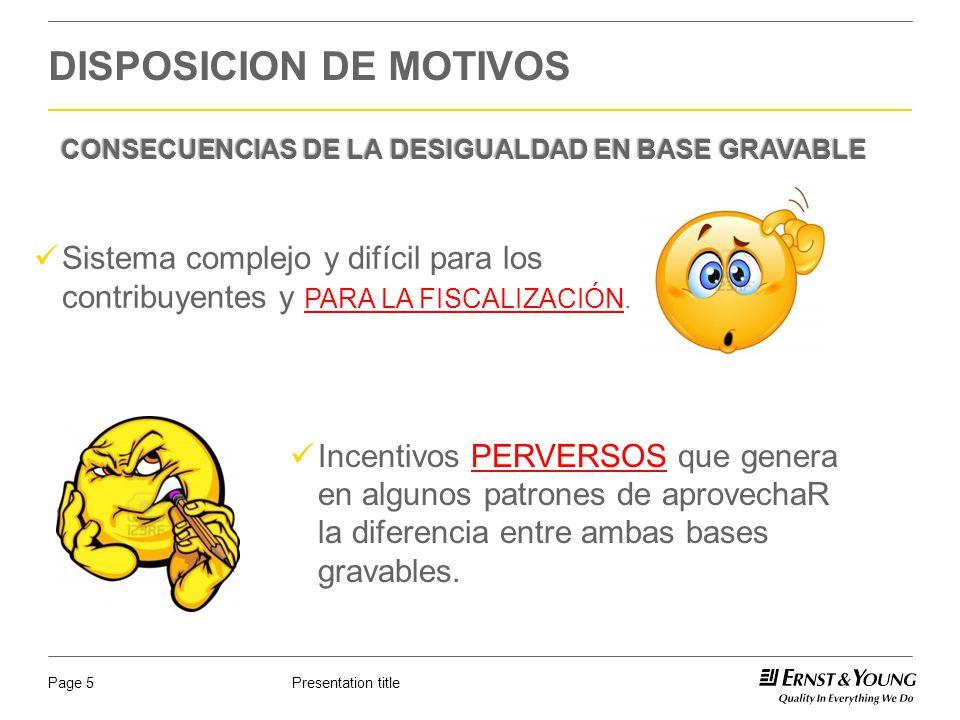 Presentation titlePage 6 DISPOSICION DE MOTIVOS Base Gravable para IMSS Base Gravable para ISR 7.5% EN 2012: Perjudicial para: Hacienda Pública e IMSS.