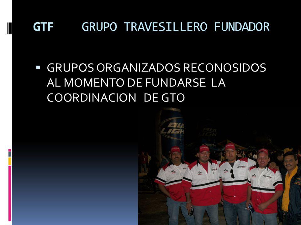 GTF GRUPO TRAVESILLERO FUNDADOR GRUPOS ORGANIZADOS RECONOSIDOS AL MOMENTO DE FUNDARSE LA COORDINACION DE GTO