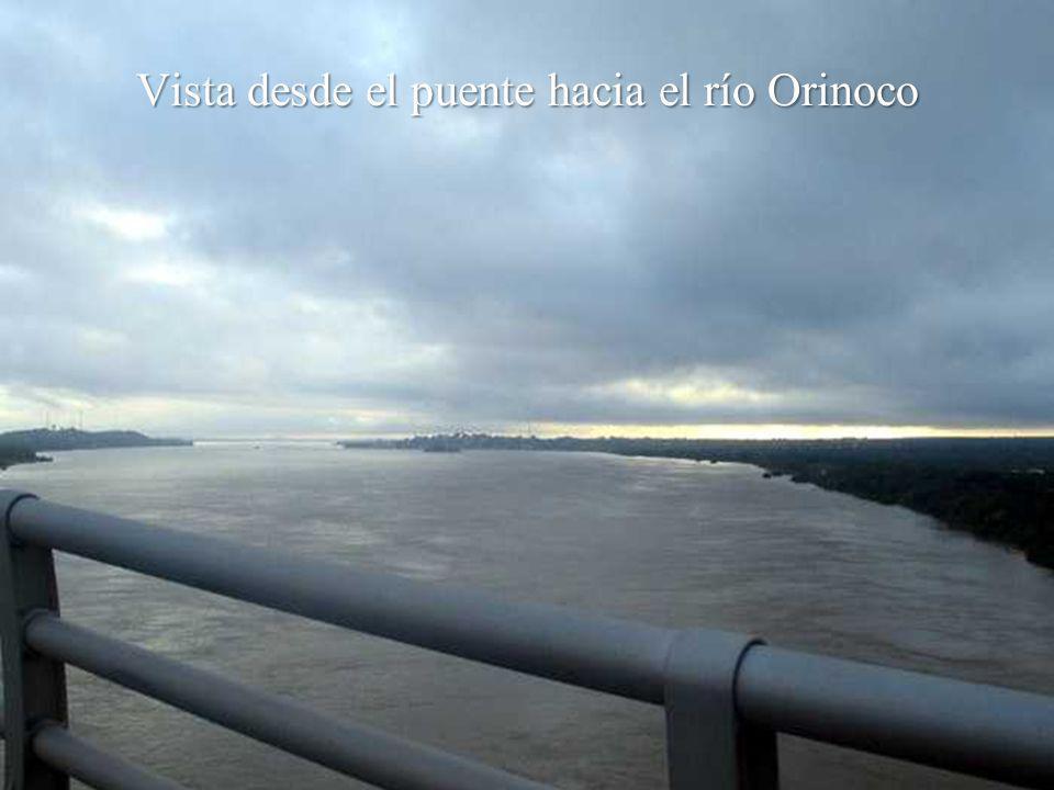 Vista desde el puente hacia el río Orinoco