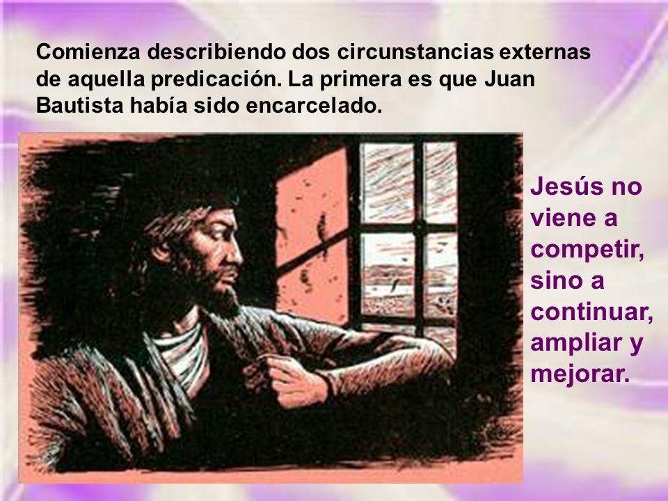 Al enterarse Jesús de que habían arrestado a Juan, se retiró a Galilea. Dejando Nazaret, se estableció en Cafarnaún, junto al lago, en el territorio d