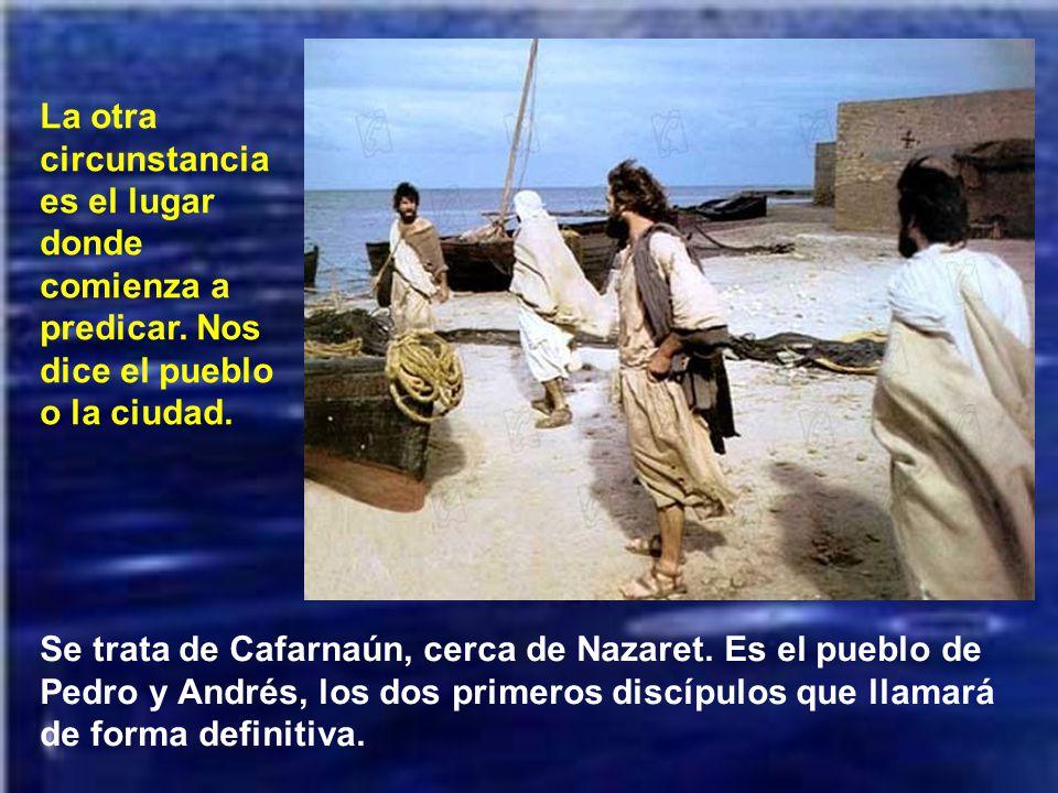 Comienza describiendo dos circunstancias externas de aquella predicación. La primera es que Juan Bautista había sido encarcelado. Jesús no viene a com