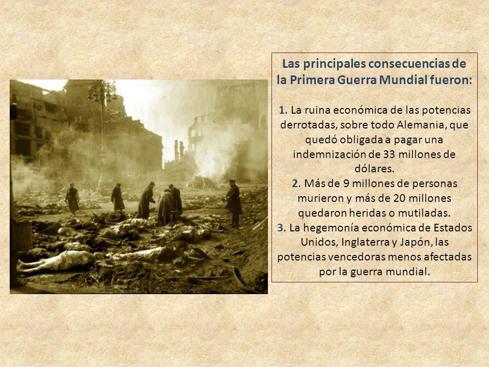 Las principales causas de la Primera Guerra Mundial fueron: 1. El afán imperialista de las principales potencias de Europa, especialmente Alemania, qu