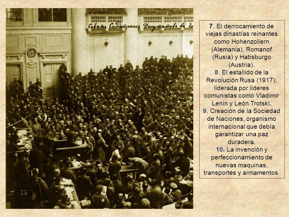 4. Alemania devolvió Alsacia y Lorena a Francia, que las había perdido en 1871 por la Guerra Franco – Prusiana. 5. La desintegración del Imperio Austr