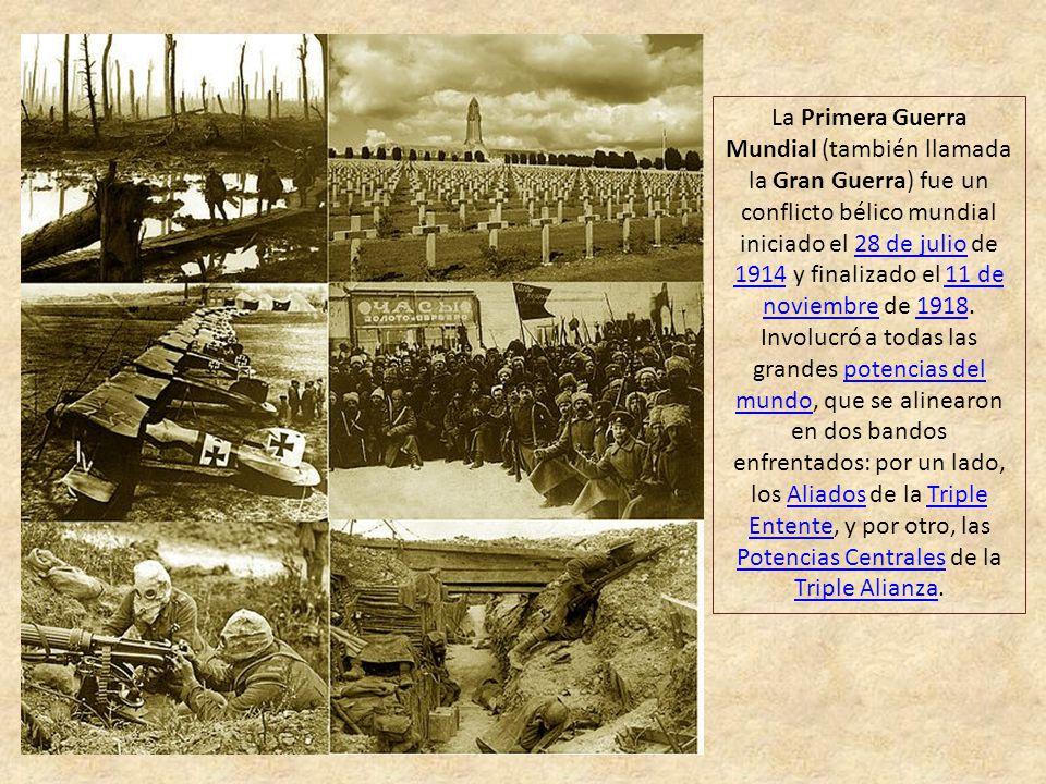 Cien Años Primera Guerra Mundial Presentación Con música y Avance manual