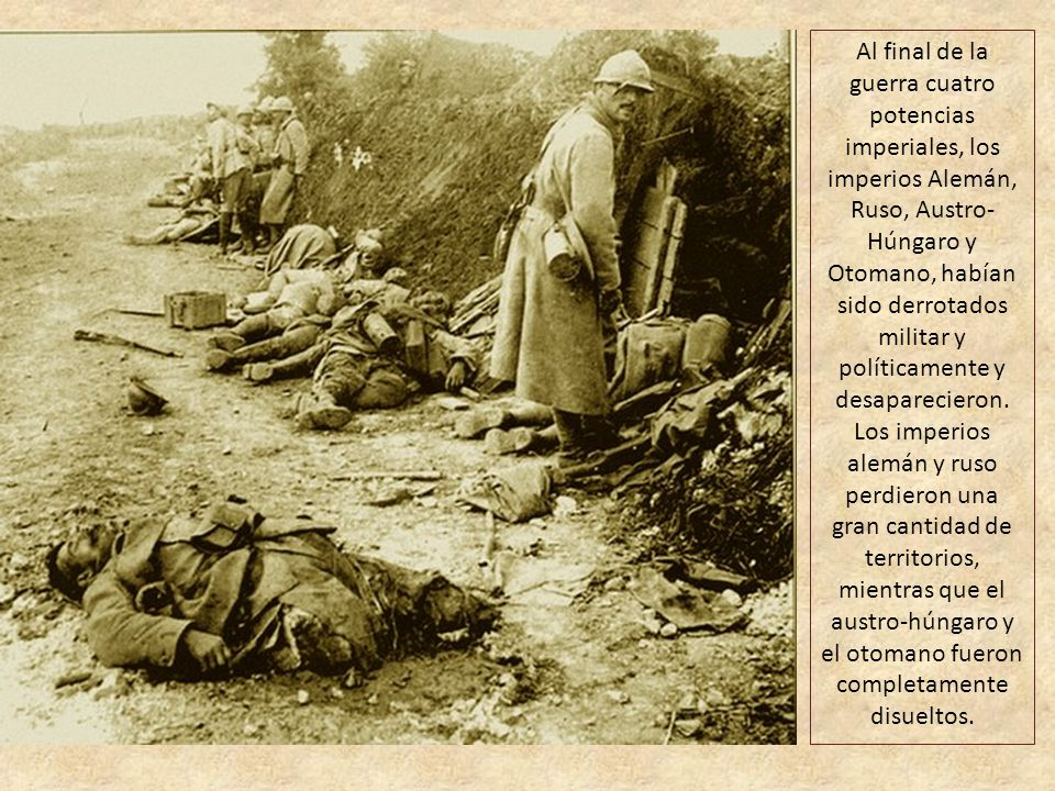 Se abrieron frentes adicionales tras la entrada en la guerra del Imperio otomano en 1914: Italia y Bulgaria en 1915 y Rumanía en 1916. El Imperio ruso