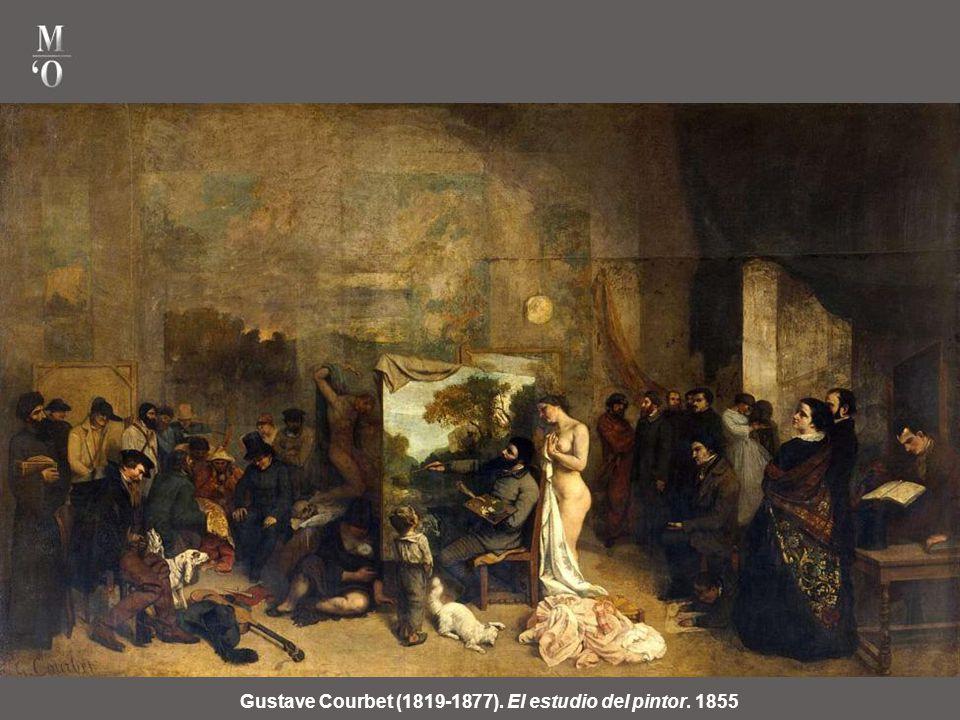 Gustave Courbet (1819-1877). Entierro en Ornans, 1850. Provocó un escándalo en el Salón de 1850, por el feísmo y vulgaridad de sus personajes. Se apli