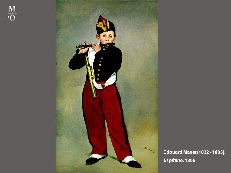Edouard Manet (1832 - 1883). Olympia. 1863. Es una escena contemporánea inspirada en una poesía de Baudelaire dedicada a una cortesana. Olimpia tambié