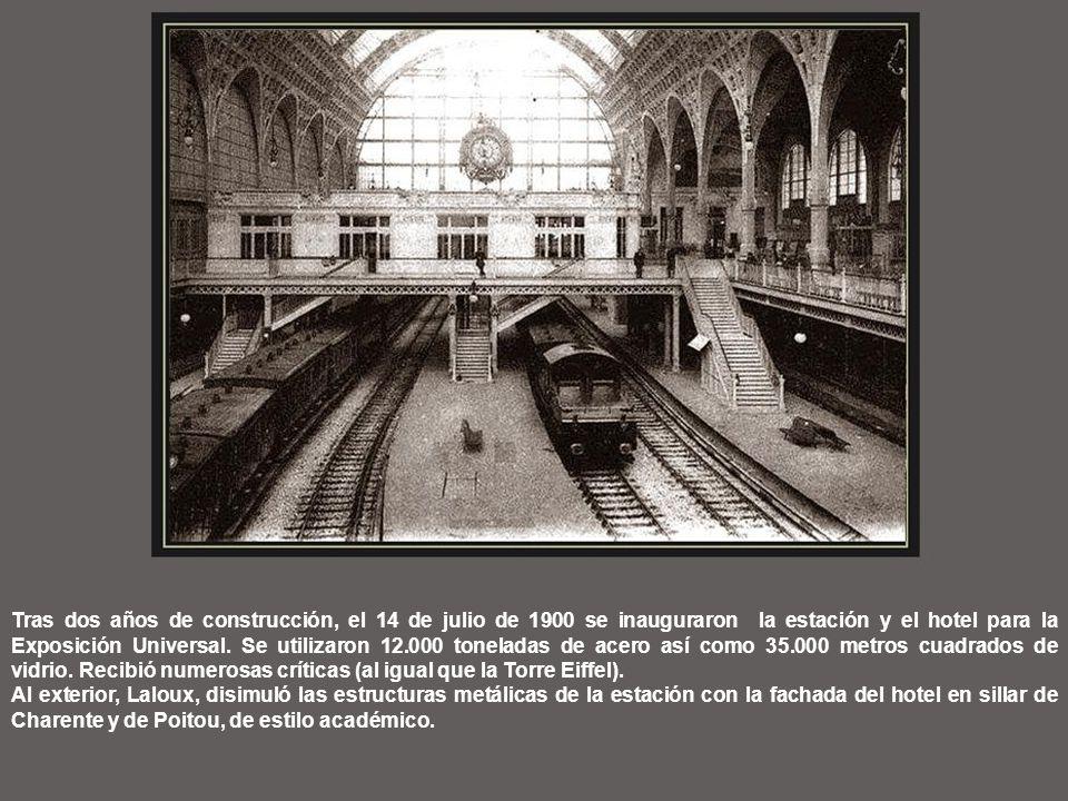 Tras dos años de construcción, el 14 de julio de 1900 se inauguraron la estación y el hotel para la Exposición Universal.