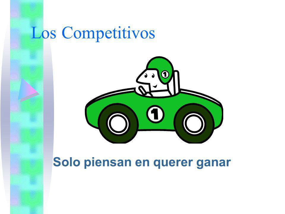 Los Competitivos Solo piensan en querer ganar