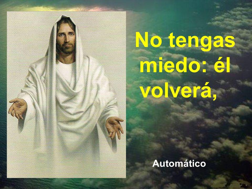 Esta actitud de esperanza, unida a la calma y la paz, es lo que Cristo quiere al hablarnos del fin de los tiempos. Alegría y paz, porque Cristo volver