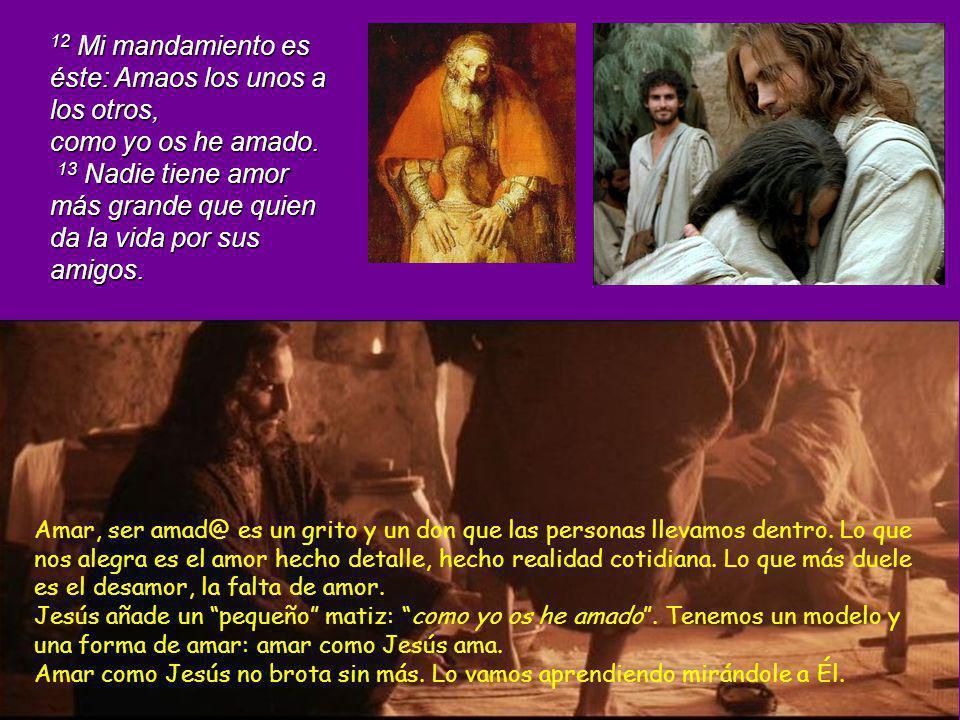 10 Pero sólo permaneceréis en mi amor, si obedecéis mis mandamientos, lo mismo que yo he observado los mandamientos de mi Padre y permanezco en su amo