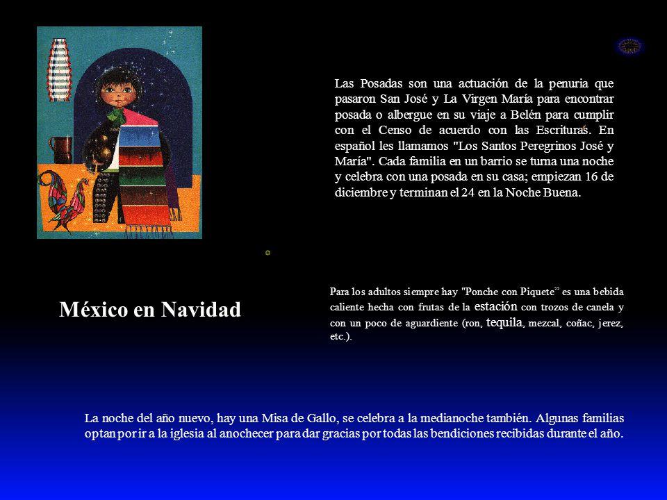 México en Navidad La noche del año nuevo, hay una Misa de Gallo, se celebra a la medianoche también. Algunas familias optan por ir a la iglesia al ano