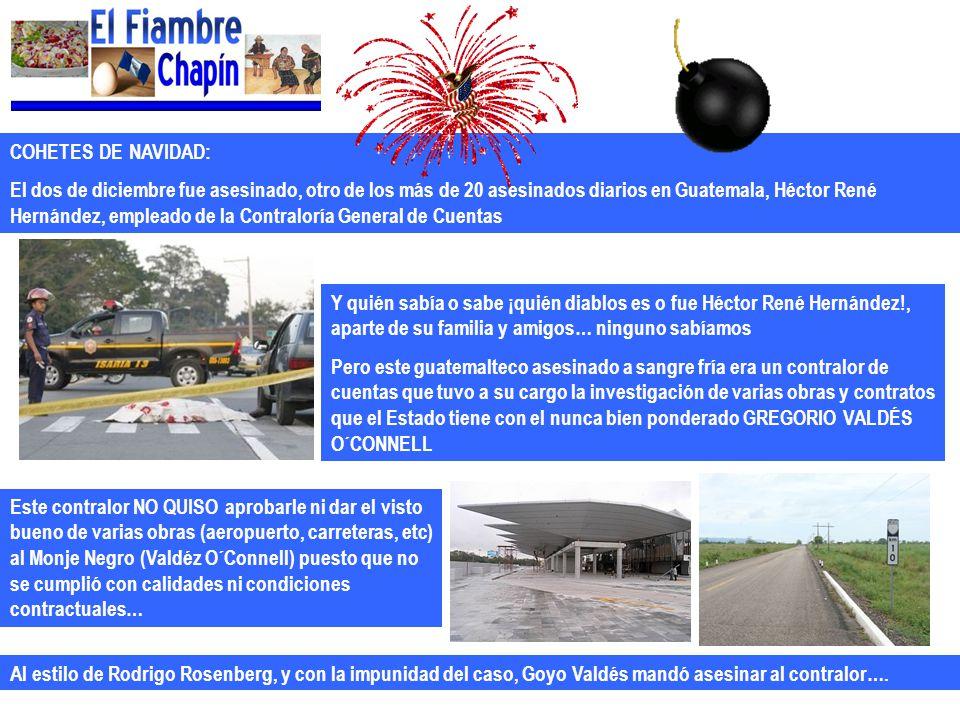 COHETES DE NAVIDAD: El dos de diciembre fue asesinado, otro de los más de 20 asesinados diarios en Guatemala, Héctor René Hernández, empleado de la Co