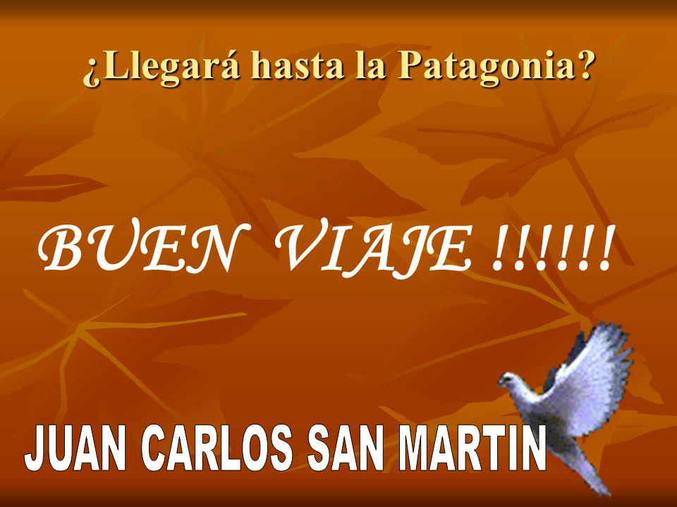 ¿Llegará hasta la Patagonia? BUEN VIAJE !!!!!!