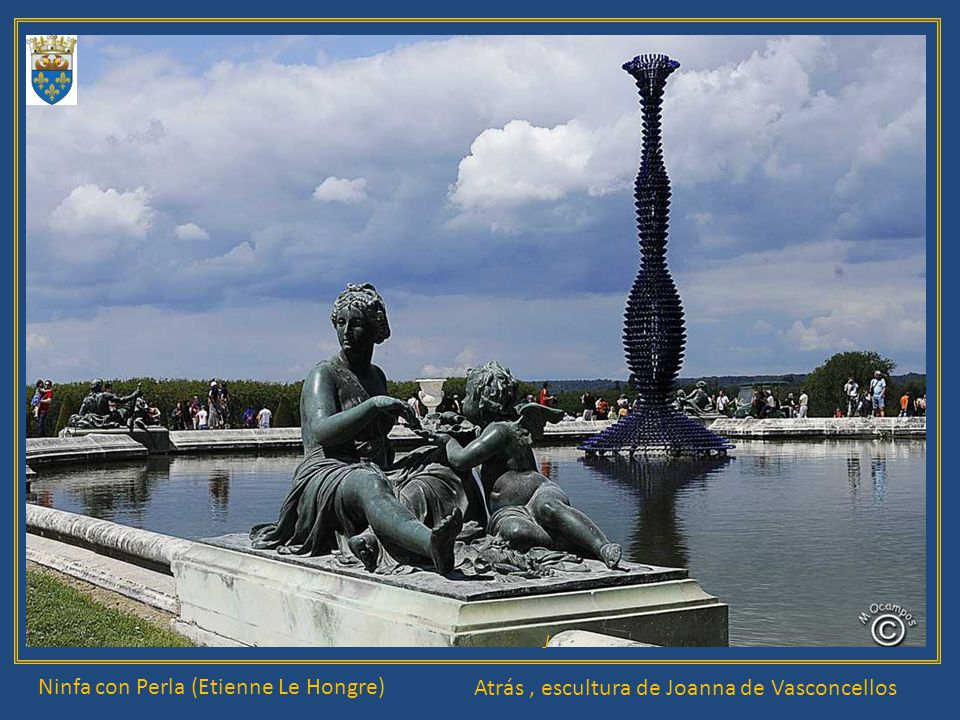 Ninfa con Perla (Etienne Le Hongre) J Atrás, escultura de Joanna de Vasconcellos