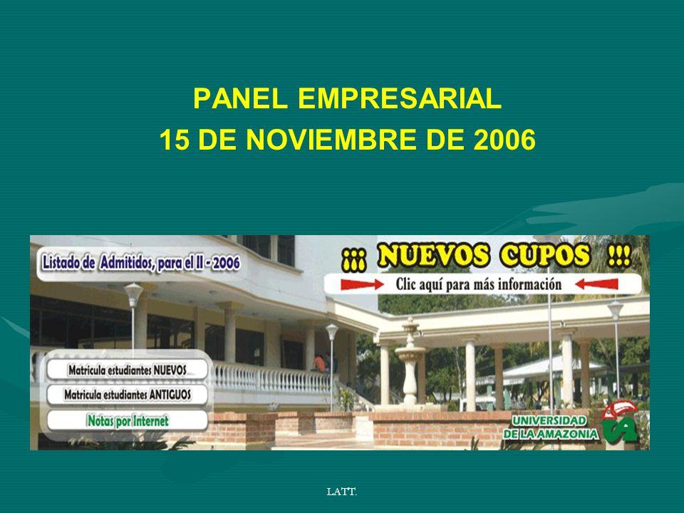 LATT. PANEL EMPRESARIAL 15 DE NOVIEMBRE DE 2006