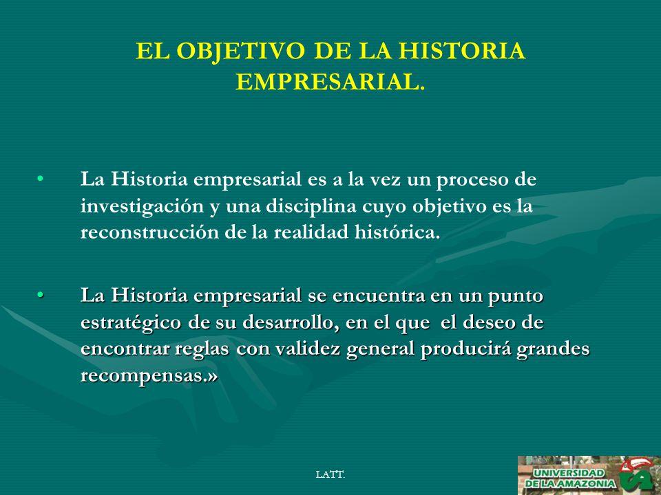 LATT. EL OBJETIVO DE LA HISTORIA EMPRESARIAL.