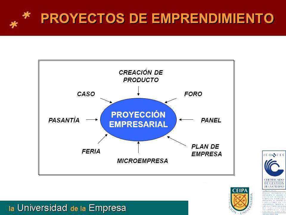 PROYECTOS DE EMPRENDIMIENTO PROYECCIÓN EMPRESARIAL FORO CREACIÓN DE PRODUCTO CASO FERIA MICROEMPRESA PLAN DE EMPRESA PANELPASANTÍA