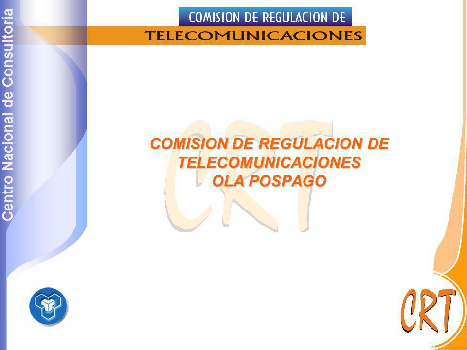 Centro Nacional de Consultoría COMISION DE REGULACION DE TELECOMUNICACIONES OLA POSPAGO