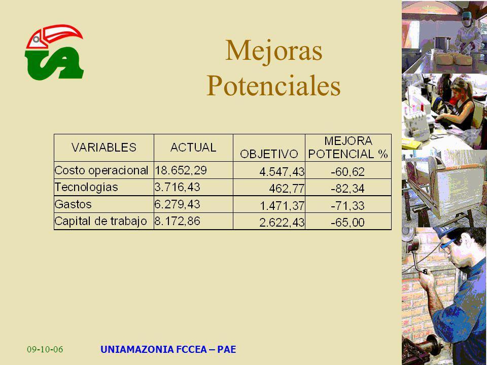 09-10-06UNIAMAZONIA FCCEA – PAE Mejoras Potenciales