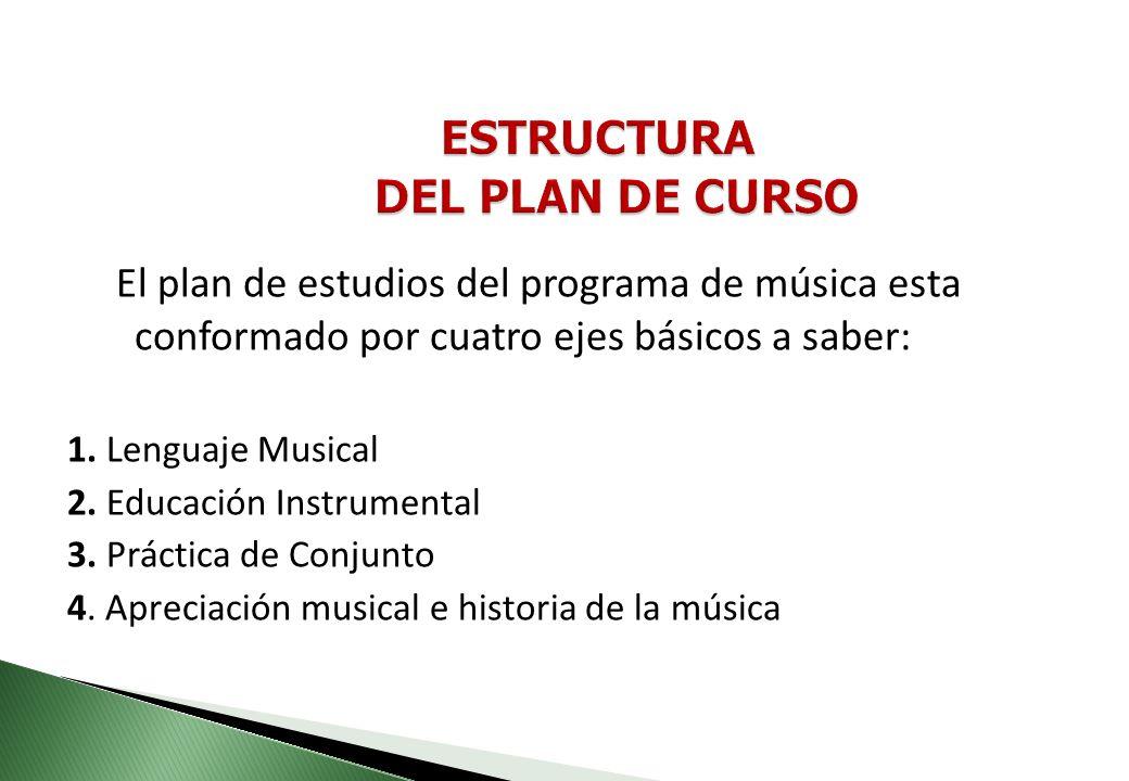 Ofrecer la posibilidad al estudiante de formarse en la educación musical a través de elementos teórico prácticos que sirvan de puente para un buen des