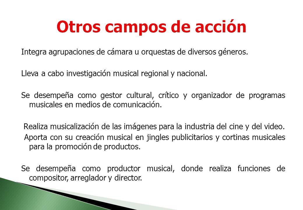 El plan de estudios del programa de música esta conformado por cuatro ejes básicos a saber: 1.