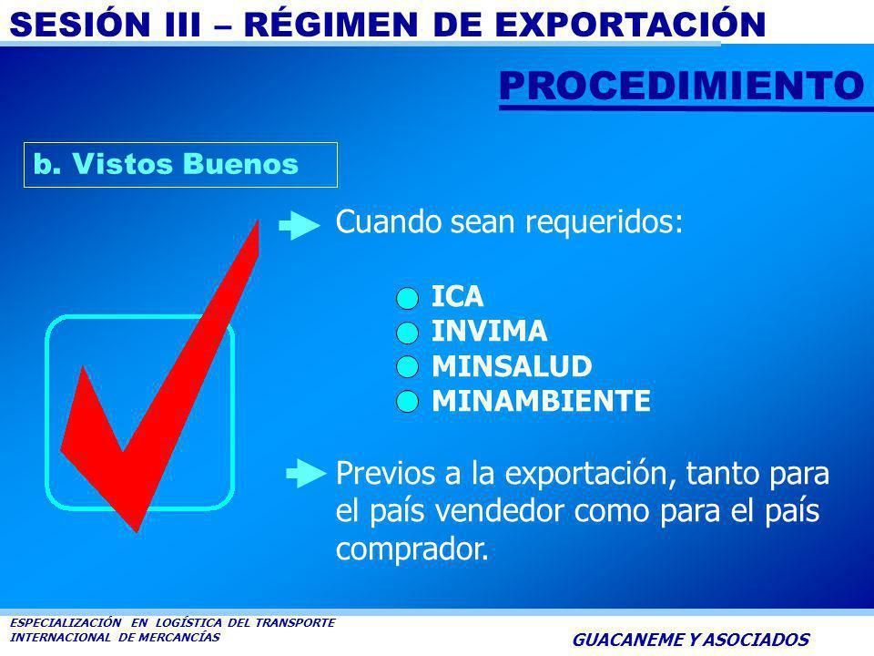 SESIÓN III – RÉGIMEN DE EXPORTACIÓN ESPECIALIZACIÓN EN LOGÍSTICA DEL TRANSPORTE INTERNACIONAL DE MERCANCÍAS GUACANEME Y ASOCIADOS a. Registro Nacional