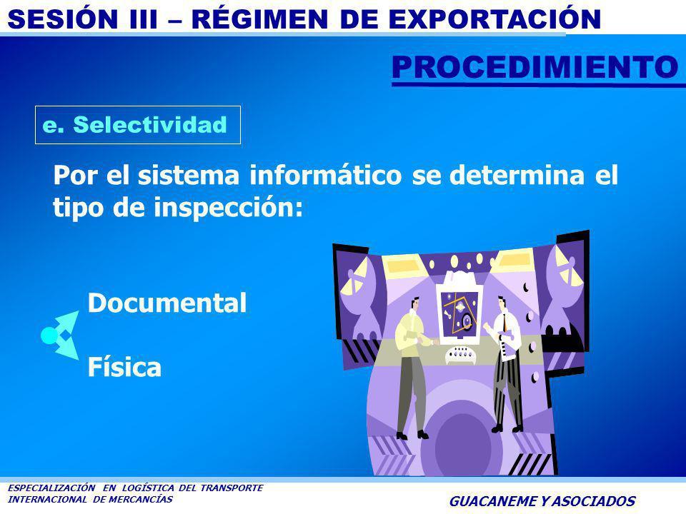 SESIÓN III – RÉGIMEN DE EXPORTACIÓN ESPECIALIZACIÓN EN LOGÍSTICA DEL TRANSPORTE INTERNACIONAL DE MERCANCÍAS GUACANEME Y ASOCIADOS d. Ingreso a Zona Pr
