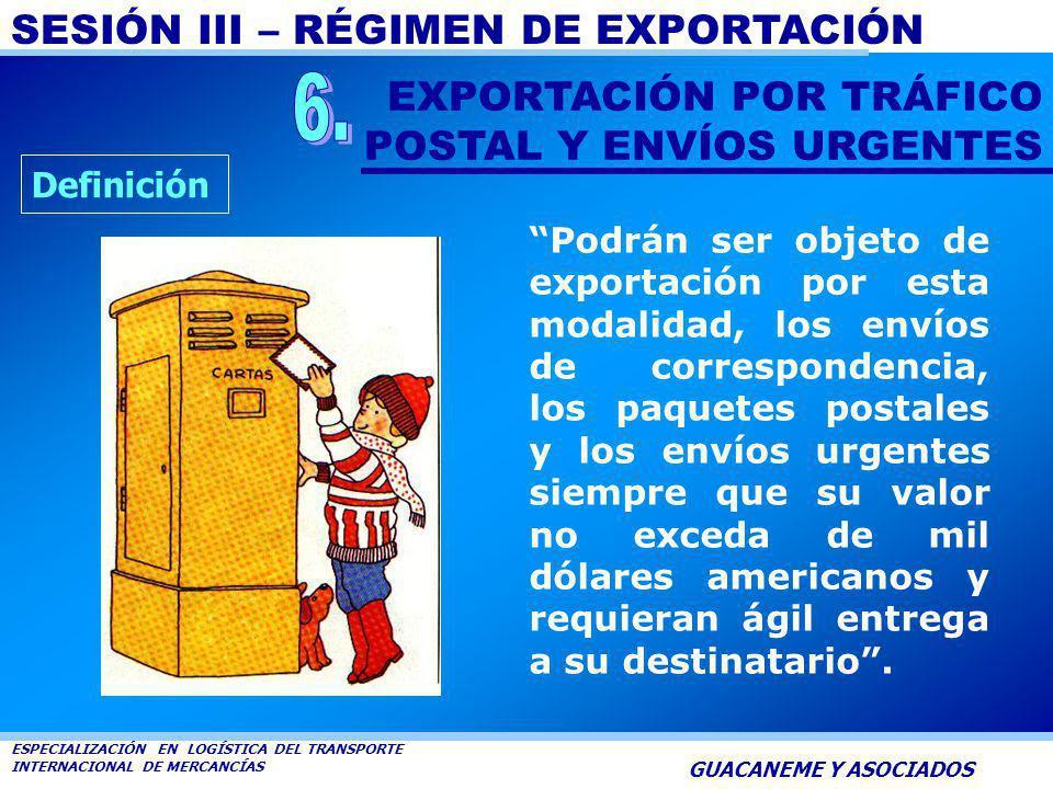 SESIÓN III – RÉGIMEN DE EXPORTACIÓN ESPECIALIZACIÓN EN LOGÍSTICA DEL TRANSPORTE INTERNACIONAL DE MERCANCÍAS GUACANEME Y ASOCIADOS No haya operado aban
