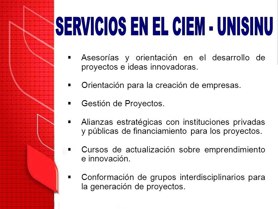 Asesorías y orientación en el desarrollo de proyectos e ideas innovadoras. Orientación para la creación de empresas. Gestión de Proyectos. Alianzas es
