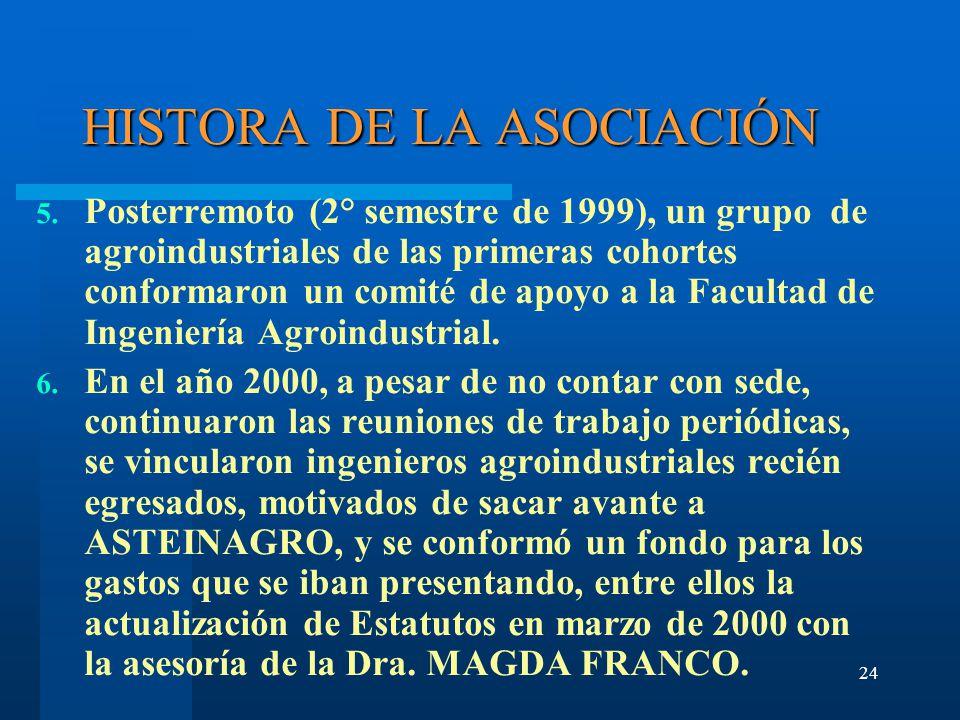 24 HISTORA DE LA ASOCIACIÓN 5.