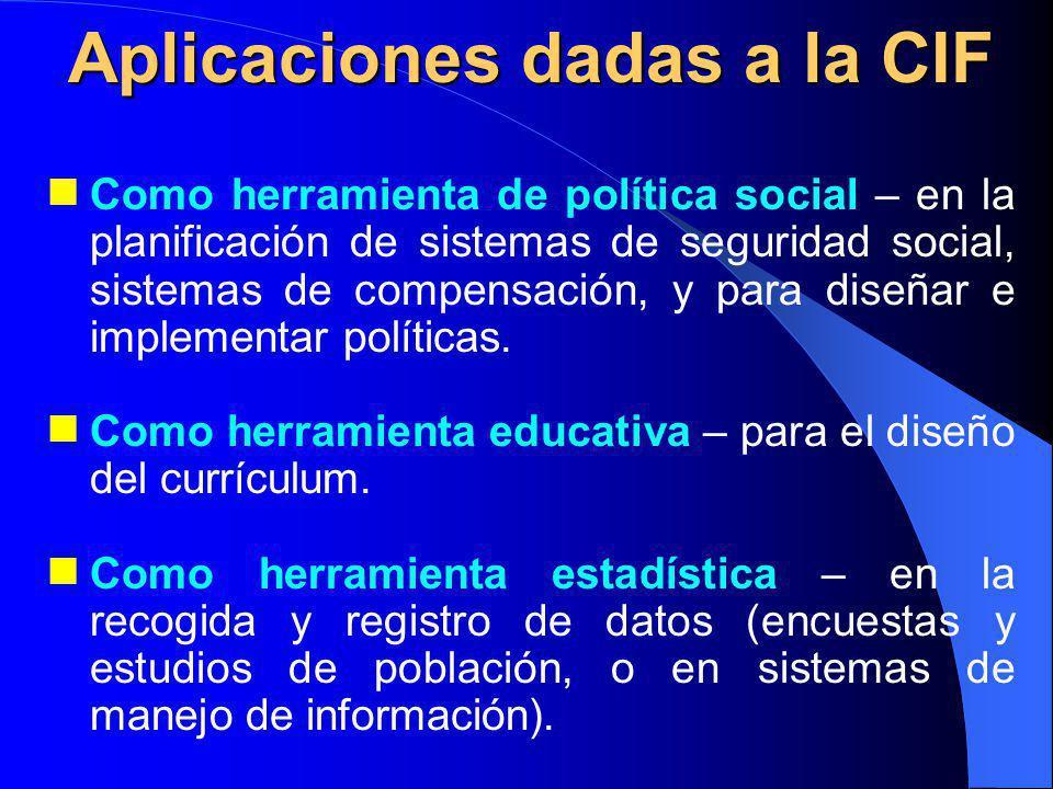 Como herramienta de política social – en la planificación de sistemas de seguridad social, sistemas de compensación, y para diseñar e implementar políticas.