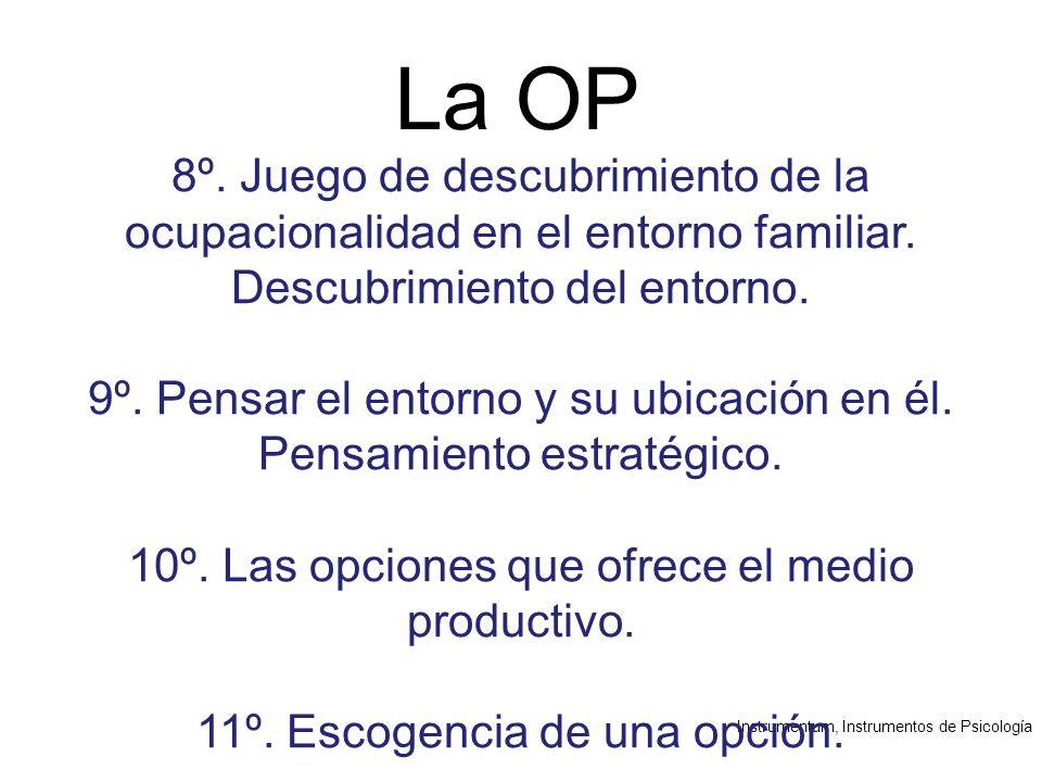 Instrumentum, Instrumentos de Psicología La OP 8º.