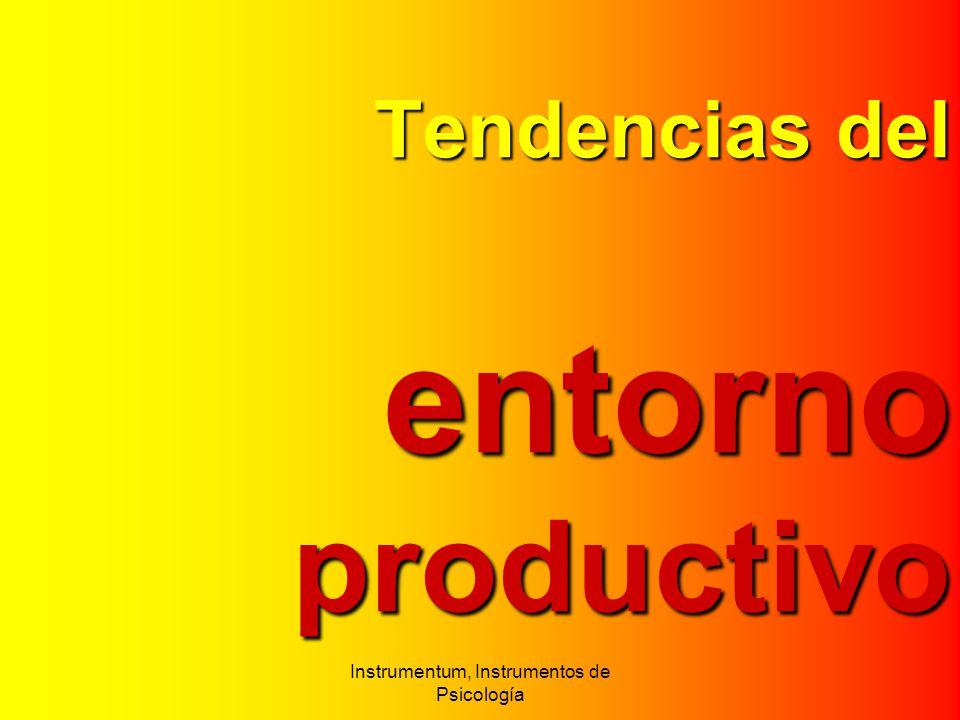 Tendenciasdel entorno productivo Tendencias del entorno productivo Instrumentum, Instrumentos de Psicología