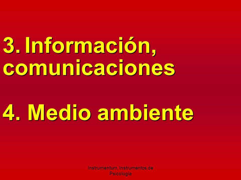 3. Información, comunicaciones 4. Medio ambiente Instrumentum, Instrumentos de Psicología