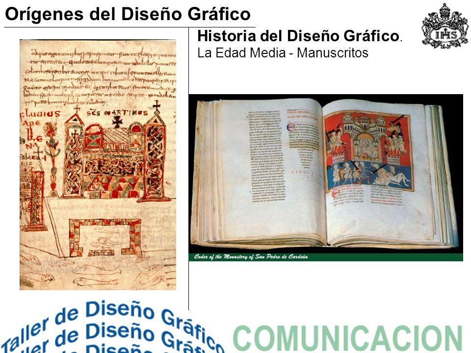 Historia del Diseño Gráfico. La Edad Media - Manuscritos Orígenes del Diseño Gráfico