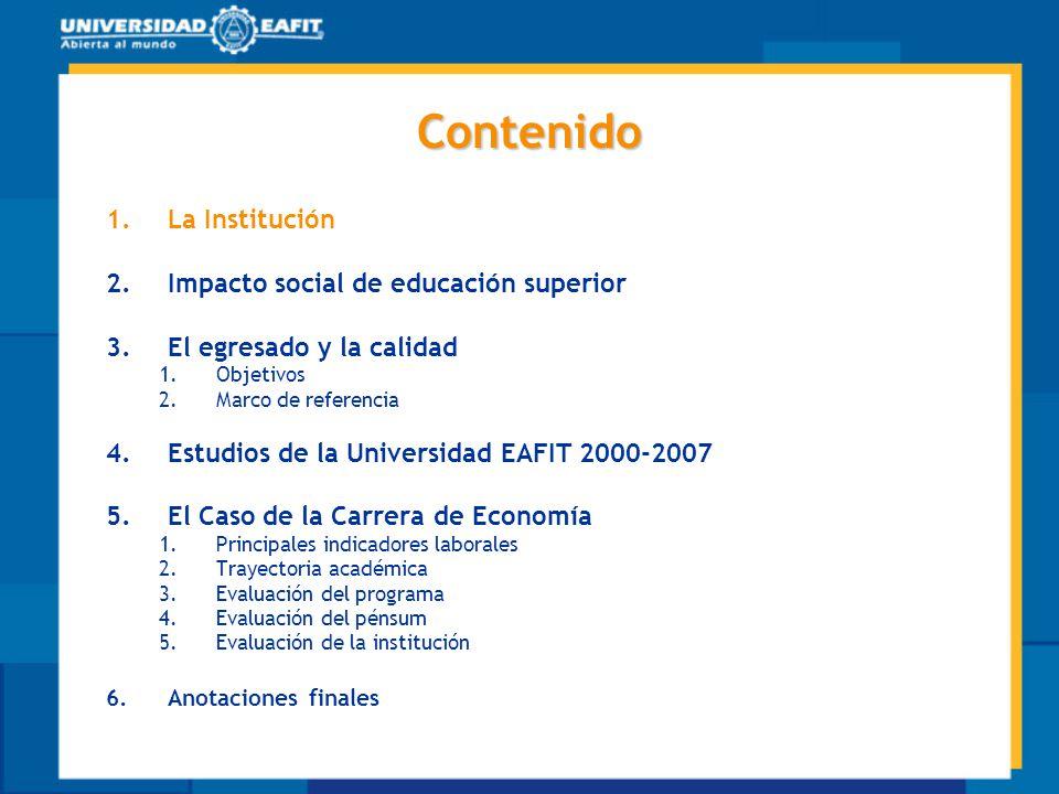 Universidad EAFIT Fecha de Fundación: 4 de mayo de 1960 Carácter Privado Rector: Dr.