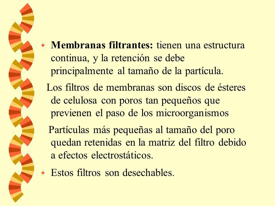 Filtros HEPA w Un filtro HEPA (High Efficiency Particulate Air) w Está compuesto por pliegues de acetato de celulosa que retienen las partículas (incl