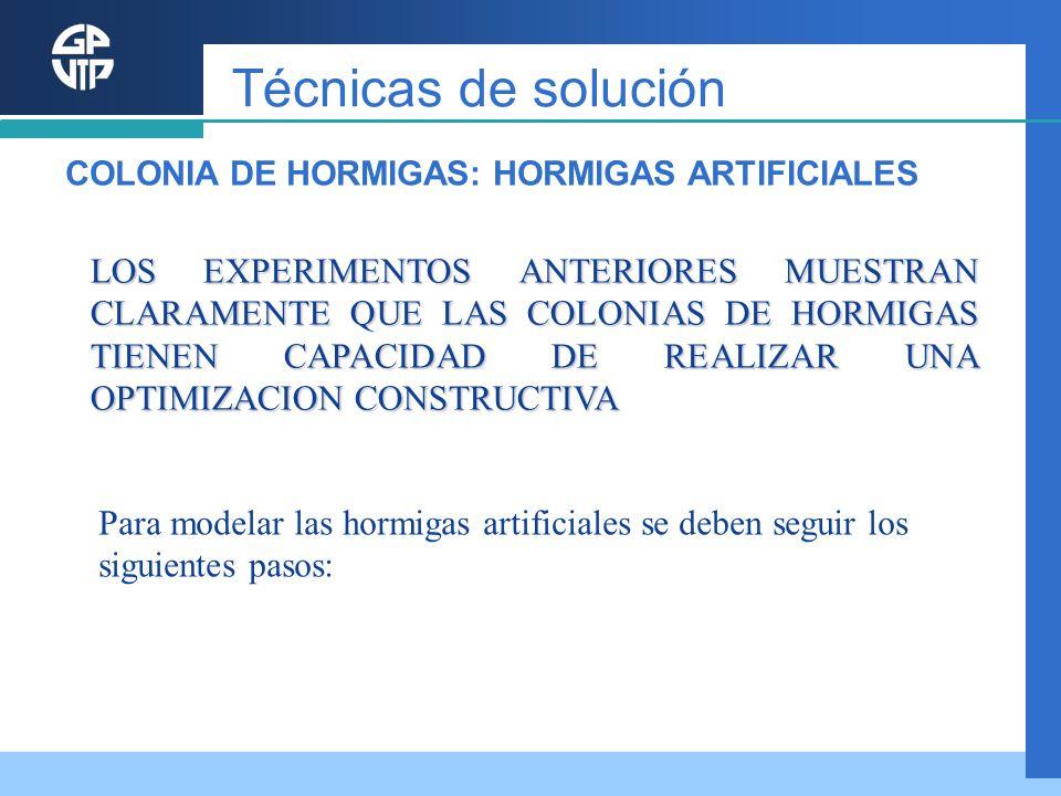 LOS EXPERIMENTOS ANTERIORES MUESTRAN CLARAMENTE QUE LAS COLONIAS DE HORMIGAS TIENEN CAPACIDAD DE REALIZAR UNA OPTIMIZACION CONSTRUCTIVA Para modelar l