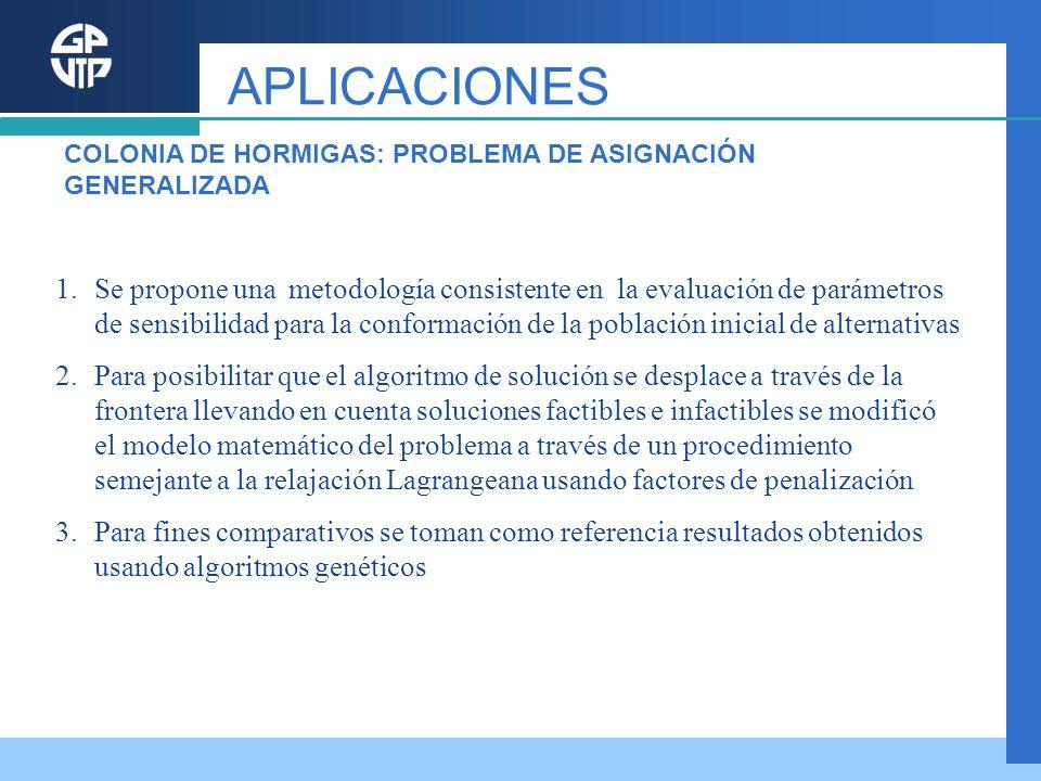 1.Se propone una metodología consistente en la evaluación de parámetros de sensibilidad para la conformación de la población inicial de alternativas 2