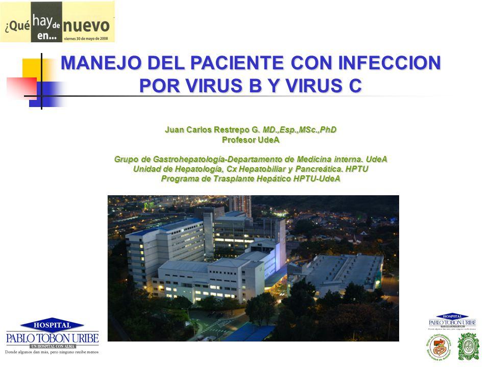 Juan Carlos Restrepo G. MD.,Esp.,MSc.,PhD Profesor UdeA Grupo de Gastrohepatología-Departamento de Medicina interna. UdeA Unidad de Hepatología, Cx He