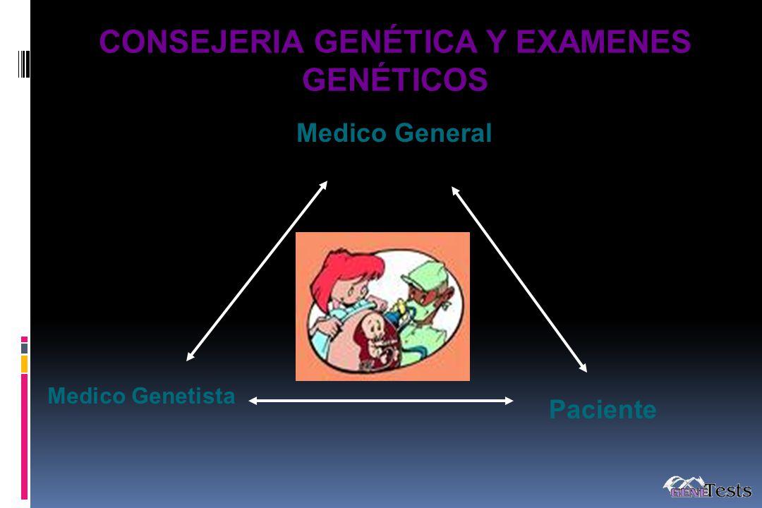Medico Genetista Paciente Medico General CONSEJERIA GENÉTICA Y EXAMENES GENÉTICOS