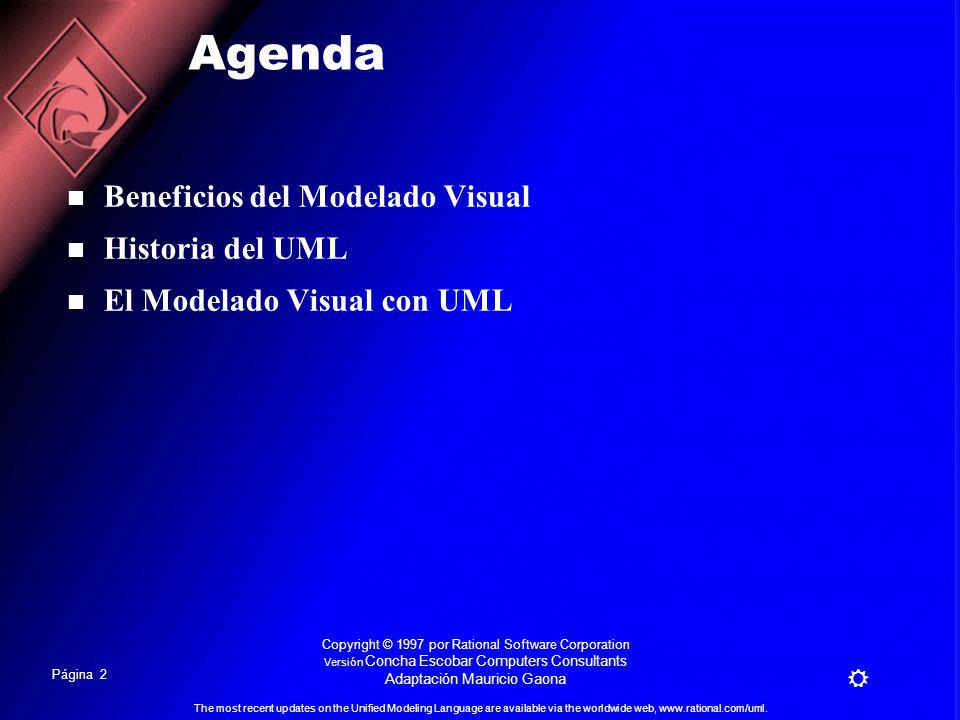 Página 1 The most recent updates on the Unified Modeling Language are available via the worldwide web, www.rational.com/uml.