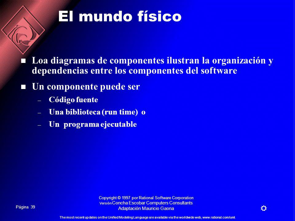 Página 38 The most recent updates on the Unified Modeling Language are available via the worldwide web, www.rational.com/uml.