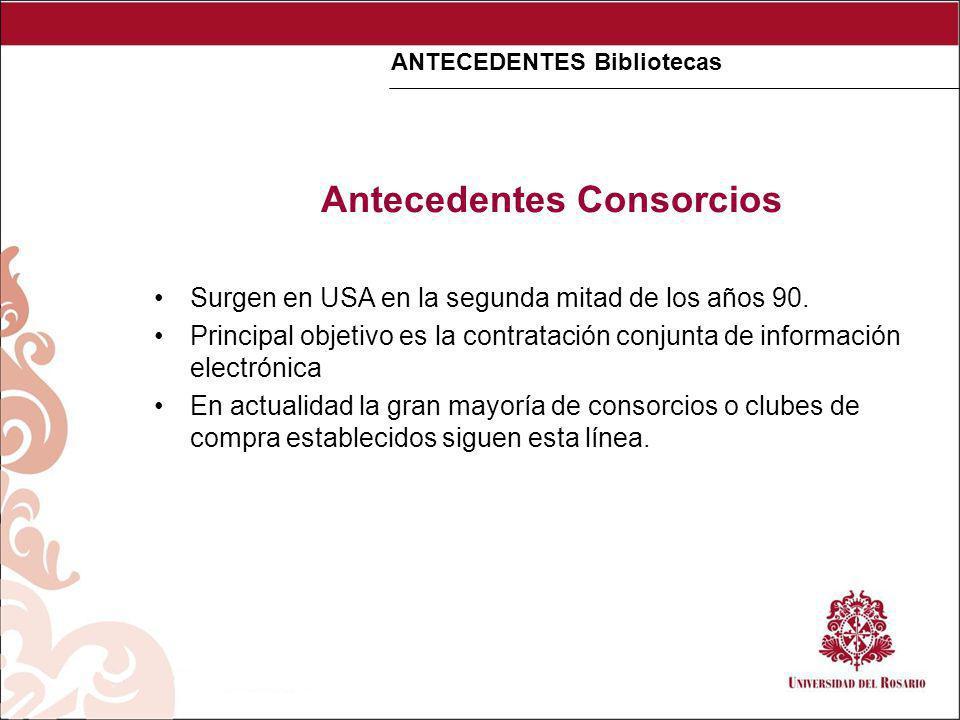 Antecedentes implementación de catalogo colectivo en Colombia Desde la década de los 70s las bibliotecas universitarias del país se han planteado la necesidad de conocer sus acervos bibliográficos e implementar la consulta unificada de sus colecciones.