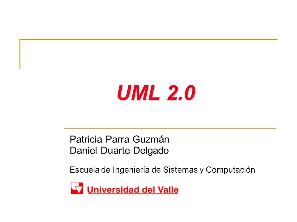 Diagramas en UML Patricia Parra Guzmán – Daniel Duarte Delgado Escuela de Ingeniería de Sistemas y Computación Diagramas de estructura enfatizan en los elementos que deben existir en el sistema modelado: Diagrama de Clases Diagrama de Componentes Diagrama de Objetos Diagrama de estructura Compuesta (UML 2.0) Diagrama de Despliegue Diagrama de Paquetes