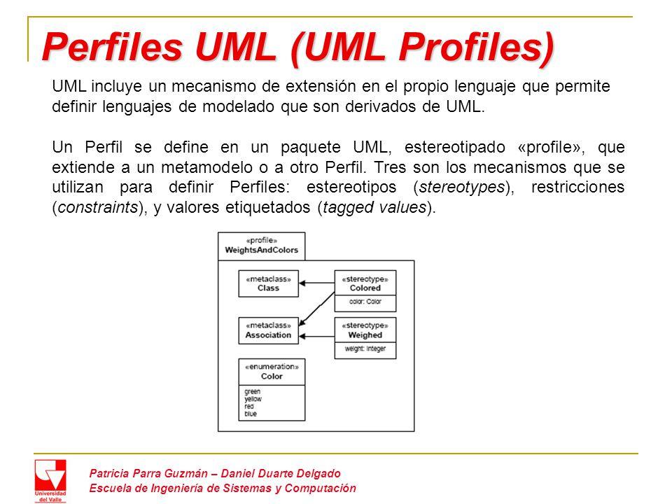 Defectos de UML 1.x Patricia Parra Guzmán – Daniel Duarte Delgado Escuela de Ingeniería de Sistemas y Computación A continuación se muestran algunas desventajas de UML 1.x las cuales evidenciaron la necesidad de una nueva versión que intentara cubrir estas limitantes: No explota la potencia de los modelos orientados a MDD Inadecuada capacidad de Modelado Sistemas a gran escala Aspectos no funcionales Modelado de procesos de negocio Definición semántica inadecuada Definición informal (No adecuada o no posible para generación de código o modelos ejecutables) Falta de soporte para intercambio de diagramas No cumplimiento de MOF