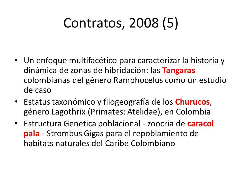 Contratos, 2008 (5) Un enfoque multifacético para caracterizar la historia y dinámica de zonas de hibridación: las Tangaras colombianas del género Ram